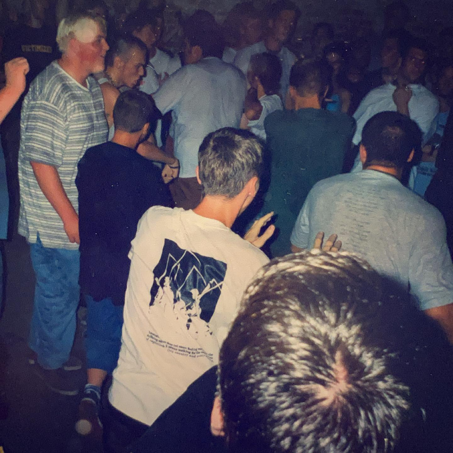 A circlepit at the Ieper Hardcore Festival. Can't remember what band it was - Vort 'n Vis Ieper (B) - 15/16/17 August 1997 #straightedge #hardcore #youthcrew #gigpic by @twentylandcrew