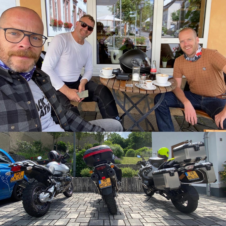 Sturen en gas geven in de Duitse Vulkaneifel met oud-collega's van @isala.neurochirurgie #bmw #bmwgs1150adventure #onroad #onoffadventures